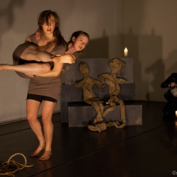 Lili Weckler and Nichele Van Portfleet in Unsurrender-HATCH Festival of Devised Performance April 2014.