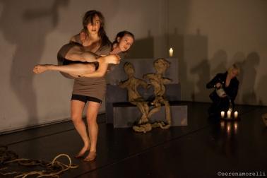 Lili Weckler and Nichele Van Portfleet in Unsurrender-HATCH Festival of Devised Performance April 2014.