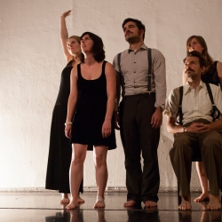 Julie Katz, Emlyn Guiney, Casey Van Portfleet, Adam Sussman, Lili Weckler - Hatch 2014 - photo by Serena Morelli