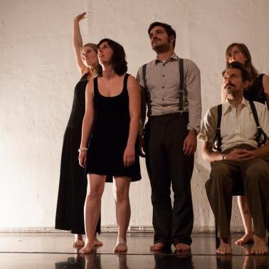 Julie Katz, Emlyn Guiney, Casey Van Portfleet, Adam Sussman, Lili Weckler - Hatch 2014 - photo by Serena Morelli