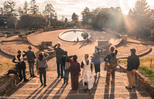 Audience for a dance at Joaquin Miller Park curated by Lili Weckler. Photo by Melina Meza.